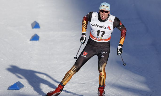 Германский  спортсмен выступил вформе сборной Российской Федерации  налыжной гонке