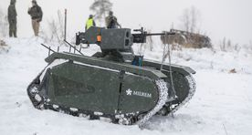 Estonian-made pocket tank in action for the first time
