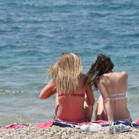26.05.2016., Vodice - Nice weather drew more domestic and foreign tourists on the beaches