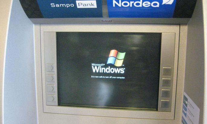 cfe2abcb8cf W3 uudised - Sampo/Nordea pangaautomaat näitas Windowsi ekraanipilti