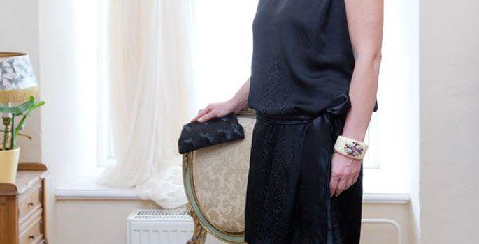 8340139c118 Pidulik must: 20-30ndate seosvööga kleit Helsingist Penny Lane'i vintage-ärist,  30ndate art deco kõrvarõngad ja 50ndate ridikül oma poest, Chloe kingad ...
