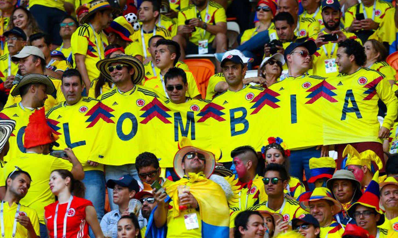 Болельщики сборной Колумбии по футболу