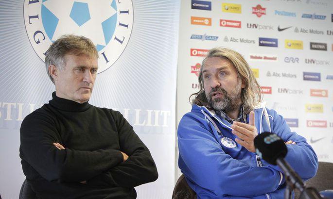 9db1dc7108d Aivar Pohlak (paremal) peab lähiajal otsusele jõudma, kas Tarmo Rüütli  jätkab Eesti koondise peatreenerina ka järgmises valiktsüklis.
