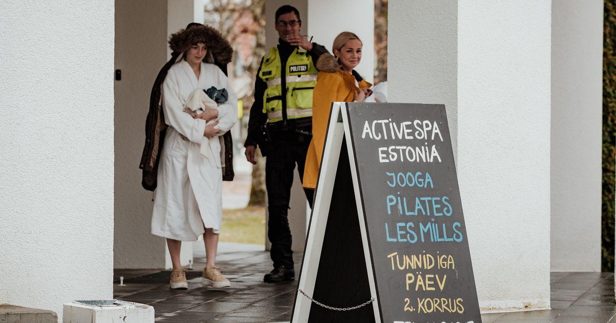 Fotod: Estonia spaast evakueeriti inimesed, kloorimürgistusohu tõttu on haiglasse viidud viis inimest, neist kaks lapsed