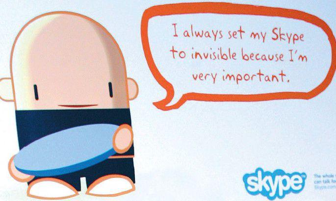345c3855cef Juba rahvusvahelise haardega Skype võib endale lubada mõnikord ka nähtamatu  olla.