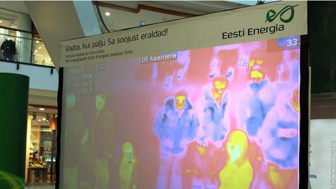 Termokaamera pilt, mis näitab inimkeha soojusenergiat.
