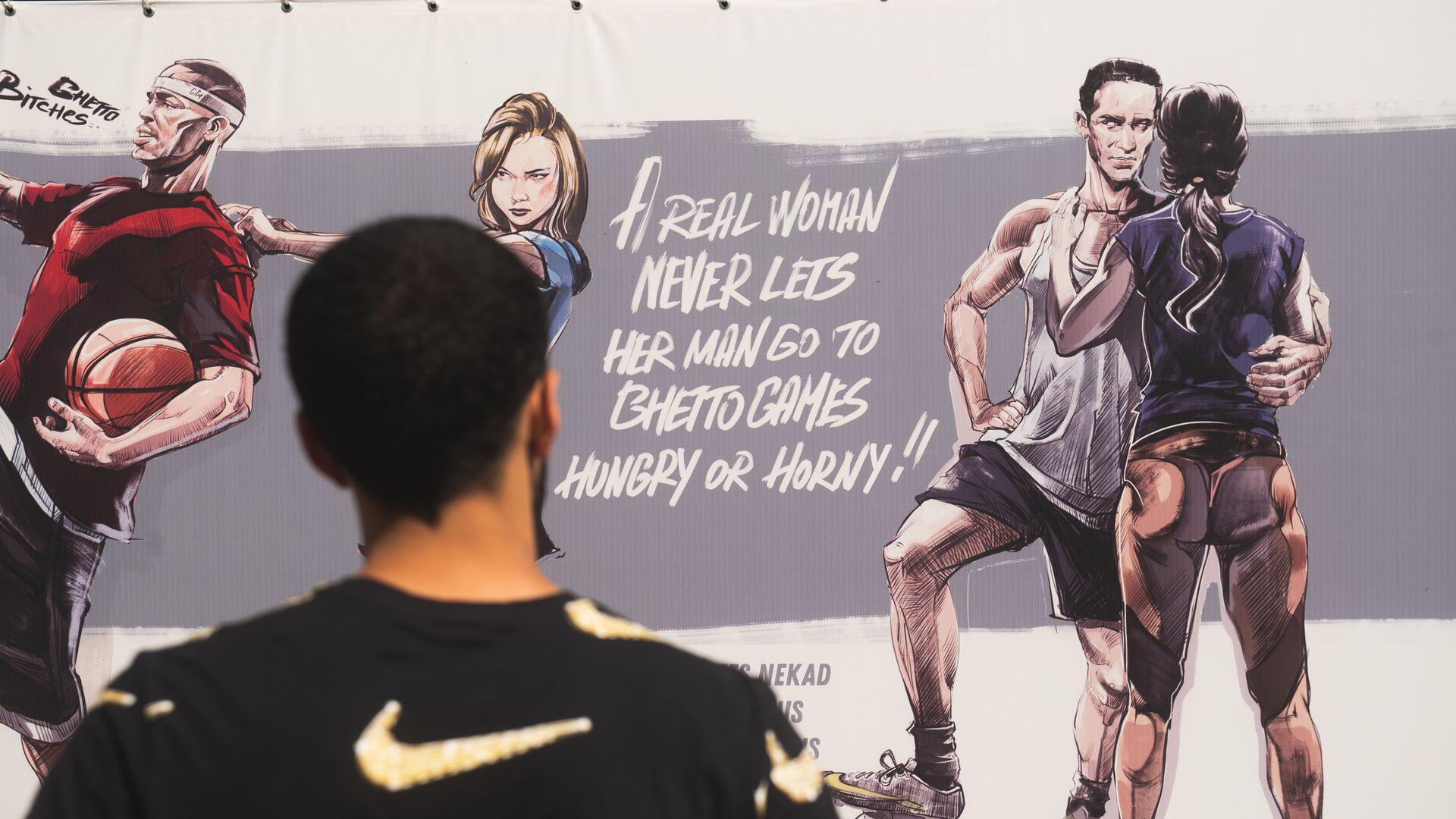 """Vai māksla var provocēt? Grīziņkalnā skandalozie """"Ghetto Games"""" plakāti"""