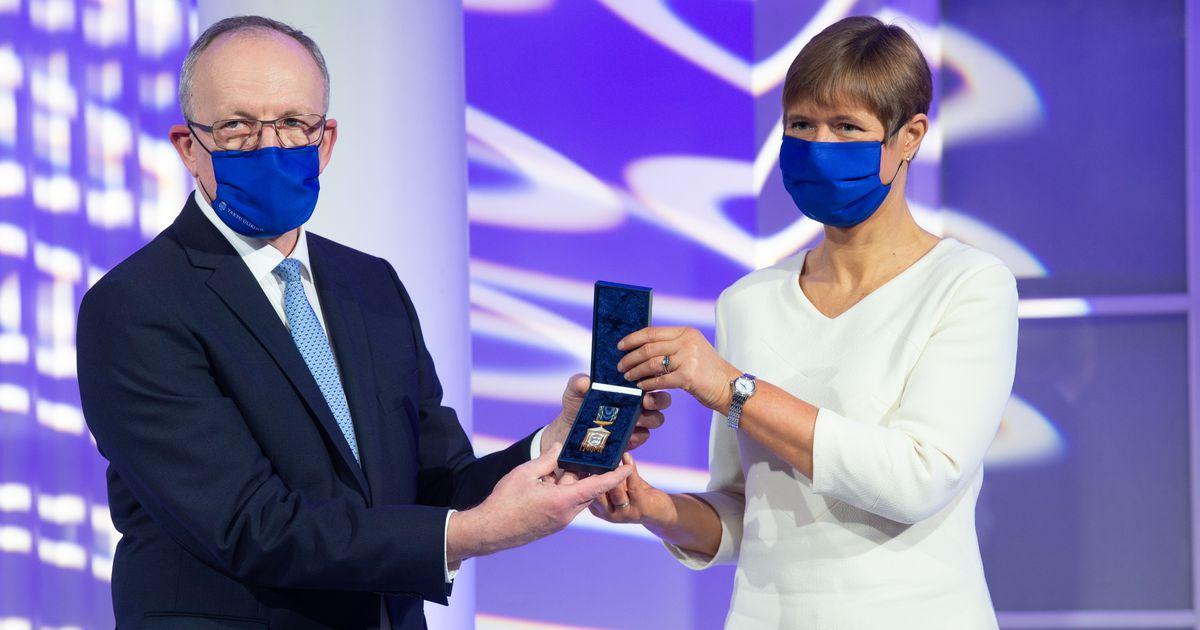 President Kersti Kaljulaid võttis Tartu ülikooli aulas vastu...