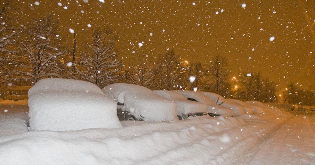 картинки много снега в городе выглядят