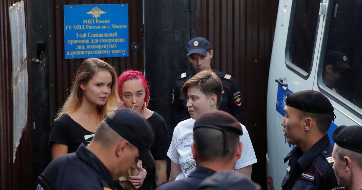 Moskvas vahistati Pussy Rioti liige ja veel kuus inimest