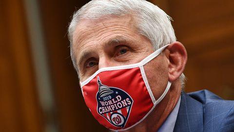 USA nakkushaiguste tippekspert Dr Anthony Fauci koroonaviiruse pandeemia teemalisel arutelul Valges Majas.