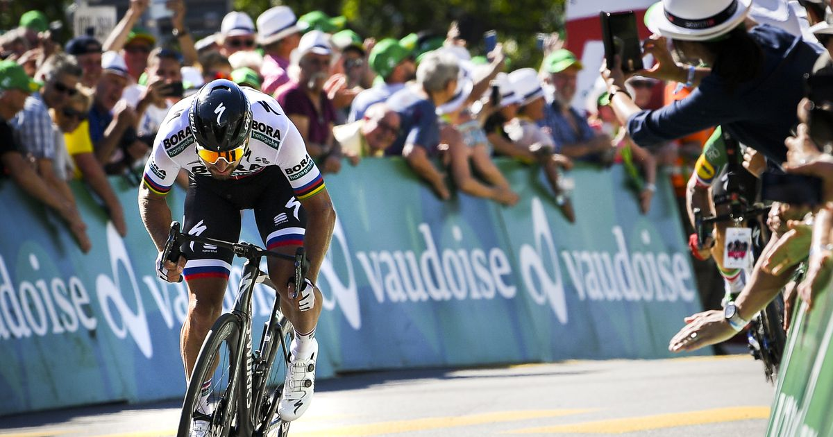 Peter Sagan võitis Šveitsi velotuuri kolmanda etapi