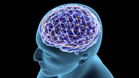 Kontseptuaalne pilt närvivõrgust inimese ajus.